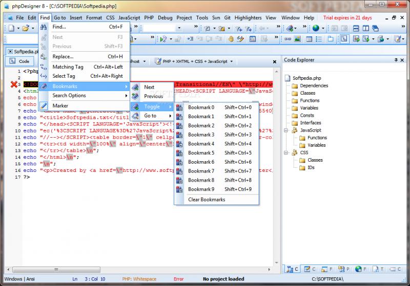 PHP Designer 8.1.2 Full + cr@ck – Phần mềm hỗ trợ lập trình PHP