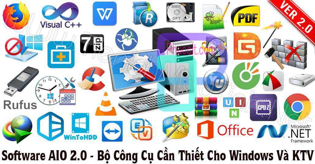 Software AIO 2.0 By TIMT – Bộ Công Cụ Cần Thiết Dành Cho Windows Và KTV