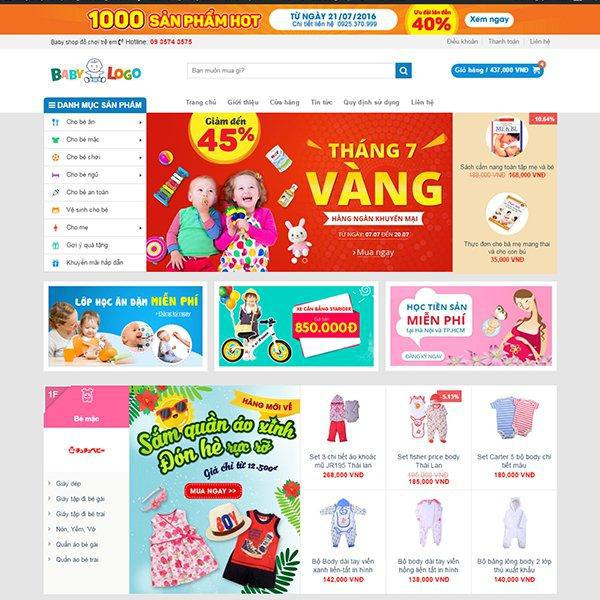 Share code web Baby Shop