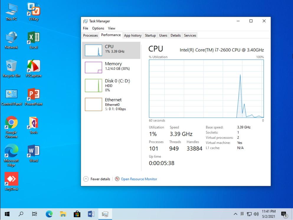 Windows 10 Pro 21H1 Anhdv Premium hỗ trợ Bootcam
