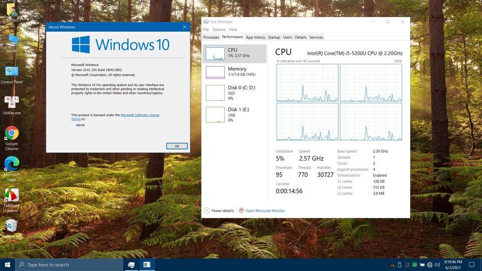 Bảo vệ: Windows 10 PRO 21H1 Siêu Cấp by MTCT