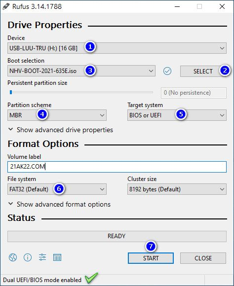 Hướng Dẫn Dùng NHV BOOT 2021 Tạo USB BOOT Cứu Hộ Máy Tính