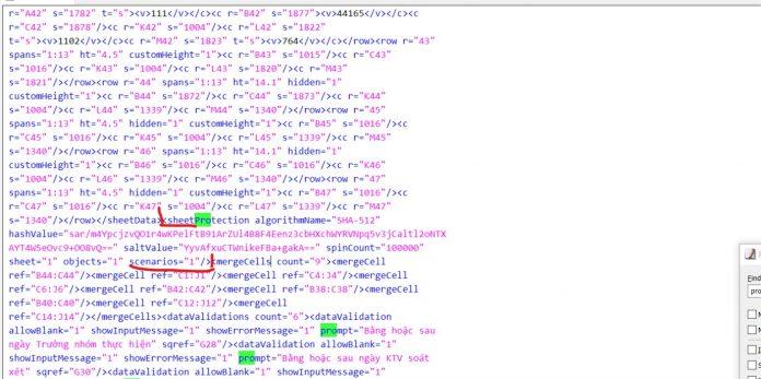 Cách phá mật khẩu SHEET trong excel